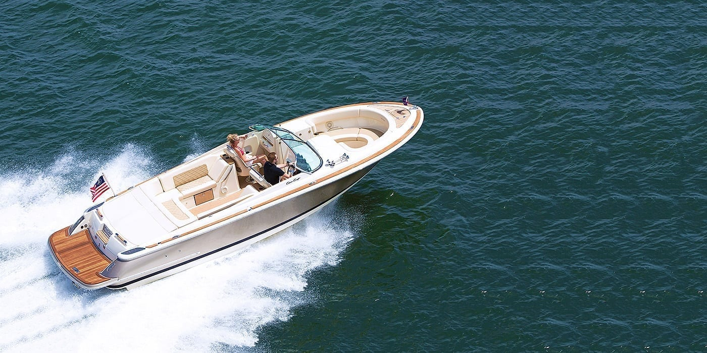 Chris Craft Launch 28 Overhead View