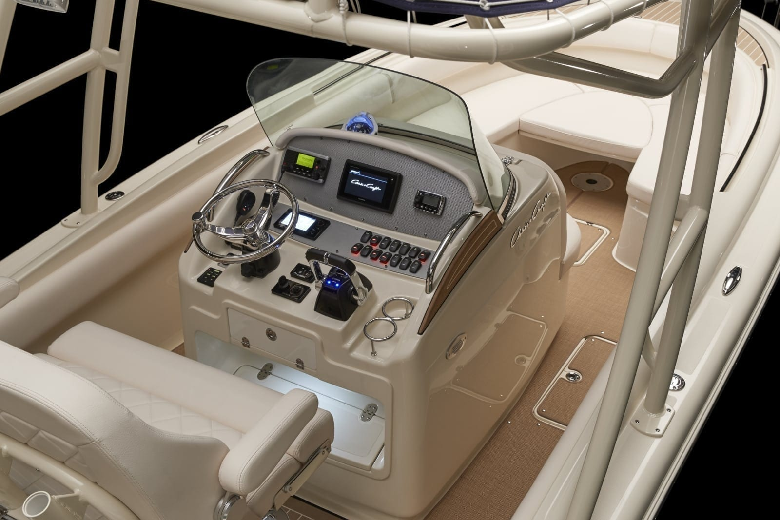 Chris Craft Catalina 26 Steering Wheel and Controls