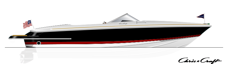 Chris Craft Launch Side View Diagram