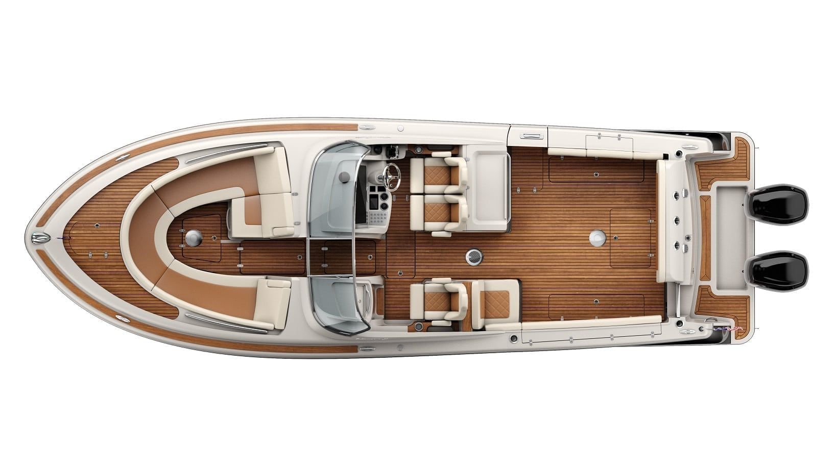 Chris Craft Calypso 30 Overhead Plan View